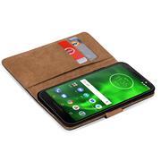 Basic Bookcase Hülle für Motorola Moto G6 Plus Klapphülle Tasche mit Kartenfächern