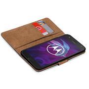 Basic Bookcase Hülle für Motorola Moto X4 Klappcase mit Kartenfächern