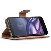 Basic Bookcase Hülle für Lenovo Moto Z Play Klapphülle Tasche mit Kartenfächern