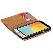 Basic Bookcase Hülle für LG Bello Klapphülle Tasche mit Kartenfächer