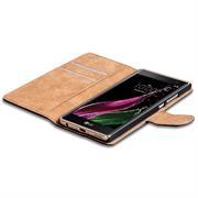 Basic Bookcase Hülle für LG Class Klapphülle Tasche mit Kartenfächer