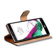 Basic Bookcase Hülle für LG G4c Klapphülle Tasche mit Kartenfächer