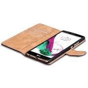 Basic Bookcase Hülle für LG G4 Klapphülle Tasche mit Kartenfächer