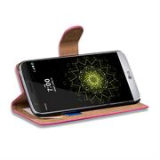 Basic Bookcase Hülle für LG G5 Klapphülle Tasche mit Kartenfächer