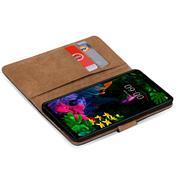 Basic Bookcase Hülle für LG Q6 klappbare Schutzhülle mit Kartenfächern