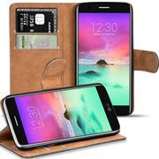 Basic Bookcase Hülle für LG K10 2017 Klapphülle Tasche mit Kartenfächern