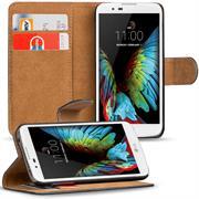 Basic Bookcase Hülle für LG K10 Klapphülle Tasche mit Kartenfächer