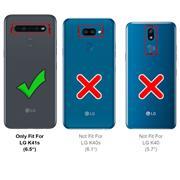 Basic Handyhülle für LG K41s Hülle Book Case klappbare Schutzhülle