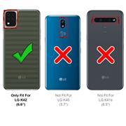 Basic Handyhülle für LG K42 Hülle Book Case klappbare Schutzhülle