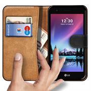Basic Bookcase Hülle für LG K4 2017 klappbare Tasche mit Kartenfächern