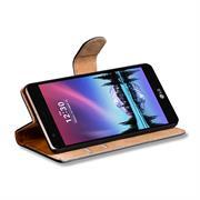 Basic Bookcase Hülle für LG K4 2017 Klapphülle Tasche mit Kartenfächern
