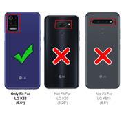 Basic Handyhülle für LG K52 Hülle Book Case klappbare Schutzhülle