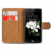 Basic Bookcase Hülle für LG K7 Klapphülle Tasche mit Kartenfächer