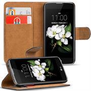 Basic Bookcase Hülle für LG K7 klappbare Schutzhülle mit Kartenfächern