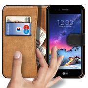 Basic Bookcase Hülle für LG K8 2017 klappbare Tasche mit Kartenfächern