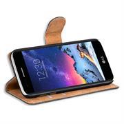 Basic Bookcase Hülle für LG K8 2017 Klapphülle Tasche mit Kartenfächern