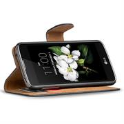 Basic Bookcase Hülle für LG K8 Klapphülle Tasche mit Kartenfächer