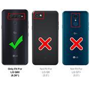 Basic Handyhülle für LG Q60 Hülle Book Case klappbare Schutzhülle