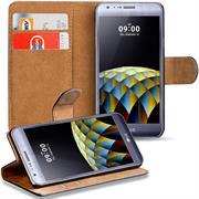 Basic Bookcase Hülle für LG X Cam klappbare Tasche mit Kartenfächern