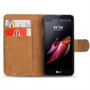 Basic Bookcase Hülle für LG X Screen Schutztasche mit Kartenfächern