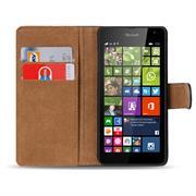 Basic Bookcase Hülle für Microsoft Lumia 535 Klapphülle Tasche mit Kartenfächer