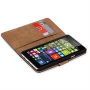 Basic Bookcase Hülle für Microsoft Lumia 535 Tasche mit Kartenfächern