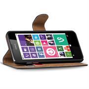 Basic Bookcase Hülle für Nokia Lumia 630 Klapphülle Tasche mit Kartenfächer