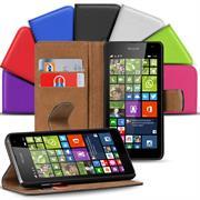 Basic Bookcase Hülle für Microsoft Lumia 640 Klapphülle Tasche mit Kartenfächer