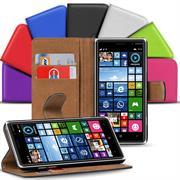 Basic Bookcase Hülle für Nokia Lumia 830 Klapphülle Tasche mit Kartenfächer