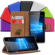 Basic Bookcase Hülle für Microsoft Lumia 950 Klapphülle Tasche mit Kartenfächer
