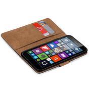 Basic Bookcase Hülle für Microsoft Lumia 532 Tasche mit Kartenfächern