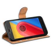 Basic Bookcase Hülle für Motorola Moto C Plus Klapphülle Tasche mit Kartenfächern