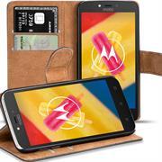 Basic Bookcase Hülle für Motorola / Lenovo Moto C Plus Schutzhülle