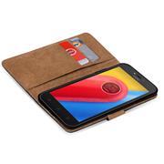 Basic Bookcase Hülle für Motorola Moto C Klapphülle Tasche mit Kartenfächern