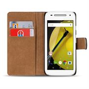 Basic Bookcase Hülle für Motorola Moto E 1. Generation Klapphülle Tasche mit Kartenfächer