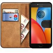Basic Bookcase Hülle für Motorola Moto E4 Plus Klapphülle Tasche mit Kartenfächern