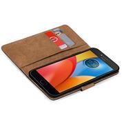 Basic Bookcase Hülle für Motorola Moto E4 Plus Case klappbare Schutzhülle