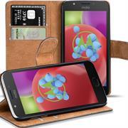 Basic Bookcase Hülle für Motorola / Lenovo Moto E4 Plus Schutzhülle