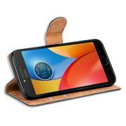 Basic Bookcase Hülle für Motorola Moto E4 Klapphülle Tasche mit Kartenfächern