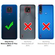 Basic Handyhülle für Motorola Moto E7 Plus Hülle Book Case klappbare Schutzhülle