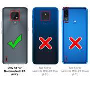 Basic Handyhülle für Motorola Moto E7 Hülle Book Case klappbare Schutzhülle