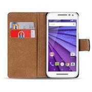 Basic Bookcase Hülle für Motorola Moto G 2. Generation Klapphülle Tasche mit Kartenfächer
