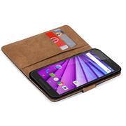 Basic Bookcase Hülle für Motorola Moto G 3 Gen. Case klappbare Schutzhülle