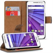 Basic Bookcase Hülle für Motorola Moto G 3. Generation Schutzhülle