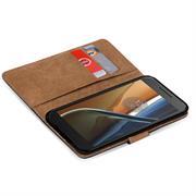Basic Bookcase Hülle für Lenovo Moto G4 Play Klapphülle Tasche mit Kartenfächern