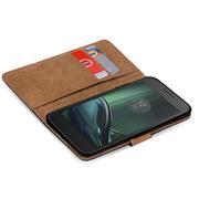 Basic Bookcase Hülle für Motorola Moto G4 Play Case klappbare Schutzhülle