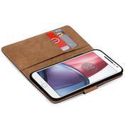 Basic Bookcase Hülle für Motorola Moto G4 / G4 Plus Case klappbare Schutzhülle
