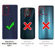 Basic Handyhülle für Motorola Moto G60s Hülle Book Case klappbare Schutzhülle