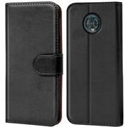 Basic Bookcase Hülle für Motorola Moto G6 Plus Case klappbare Schutzhülle