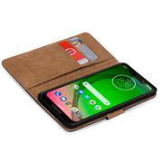 Basic Bookcase Hülle für Motorola Moto G7 Play klappbare Schutzhülle
